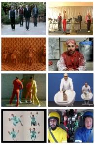 Figure 1. Screenshots of Ok Go music videos